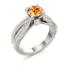 Engagement Ring....Sizzling Spessartite Garnet