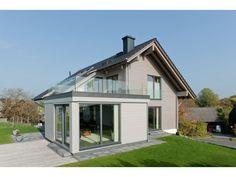 Sonnblick - #Einfamilienhaus von Fullwood - LK-Fertigbau GmbH | HausXXL #Blockhaus #modern #Satteldach