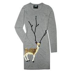(68) Markus Lupfer Sequin Deer Knit Dress ($246) ❤ liked on Polyvore |... ❤ liked on Polyvore featuring dresses, knit dress, markus lupfer, sequin dresses, deer print dress and markus lupfer dress