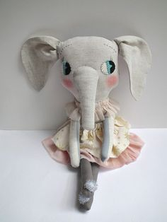cloth elephant gold star/dusky pink