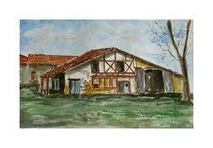 Belle ferme Gasconne : Peintures par aquarelles-dupicard
