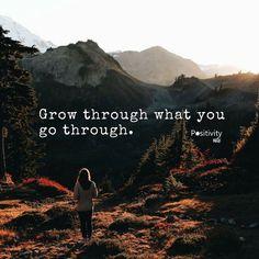Grow through what you go through. #positivitynote #positivity #inspiration