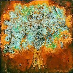 18x18 Rust Tree by Britt Hallowell