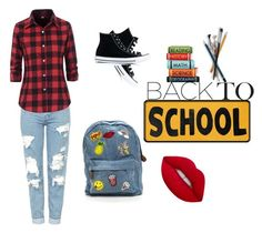 """""""Back to SCHOOL"""" by emma-loves-fashion294 on Polyvore featuring Topshop, Converse and Lime Crime"""