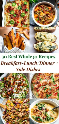 whole 30 recipes breakfast / whole 30 recipes ; whole 30 recipes ; whole 30 recipes breakfast ; whole 30 recipes dinner ; whole 30 recipes crockpot ; whole 30 recipes instant pot ; whole 30 recipes easy ; whole 30 recipes week 1 Whole 30 Meal Plan, Whole 30 Lunch, Whole 30 Diet, Whole 30 Meals, Paleo Whole 30, Dinner Side Dishes, Dinner Sides, Fish Dinner, Breakfast Lunch Dinner