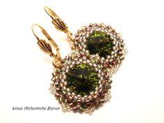 peyote earrings | swarovski+olivine+-+peyote+earring+-+swarovski+earrings.JPG