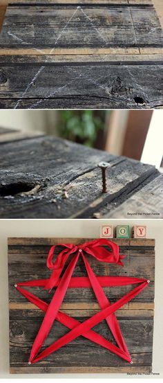 Awesome DIY Christmas Home Decorations and Homemade Holiday Decor Ideas - Quick and Easy Decorating ideas, cool ornaments, home decor crafts and fun Christmas stuff  | Crafts and DIY projects by DIY Joy  |  15 Minute Ribbon Star  |  http://diyjoy.com/diy-christmas-decor-holiday-decorations