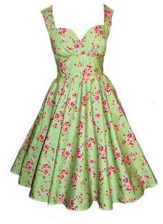Aprils & Elizabeth Stone 50er Jahre inspiriert Tanz Blumen Kleid zum Petticoat Rockabilly:Amazon.de:Bekleidung