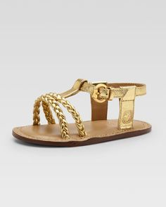 Baby Rachel Metallic Sandal, Gold by Gucci at Neiman Marcus.