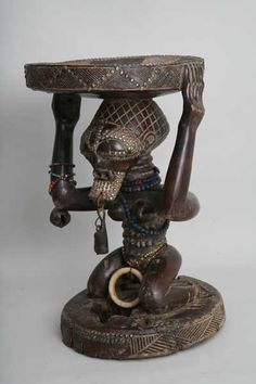African Wood Carvings, Afrique Art, Statues, African Crafts, African Sculptures, African Masks, Candle Holders, Antiques, Stools