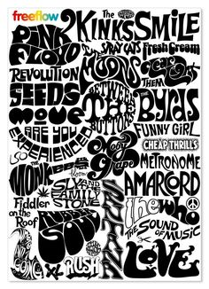André Toet shows in Vouwblad the freeflow, handdrawn logos and typefaces from the infact the forerunners of the current graffiti. It's his reaction on the composed by Wim Crouwel. Graffiti Lettering, Typography Letters, Lettering Design, Logo Design, 60s Font, Retro Font, Psychedelic Typography, Psychedelic Art, Mode Pin Up