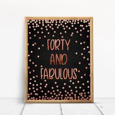 70 and fabulous, Happy Birthday, Cheers to 70 Years, Anniversary Sign, Confetti Rose Gold Happy 80th Birthday, Birthday Cheers, 70th Birthday Parties, Gold Birthday Party, Happy 40th, Birthday Signs, 50th Birthday Party Decorations, Gold Party Decorations, Anniversary Gifts For Parents