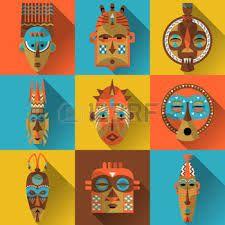 Bildergebnis für african mask illustration