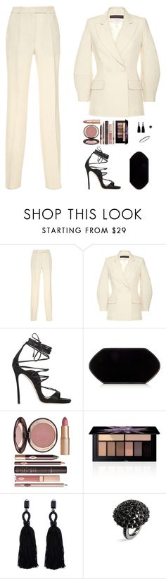 """Untitled #4938"" by mdmsb on Polyvore featuring Martin Grant, Dsquared2, Hunting Season, Charlotte Tilbury, Smashbox, Oscar de la Renta and Effy Jewelry"