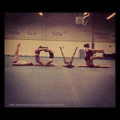 Love.  Want my girls' team to do this.  Maybe spelling out FLIP?