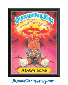 Garbage Pail Kids Adam Bomb    This is a VERY big pattern. Definitely not for beginners. When using 18ct fabric the finished pattern is just under