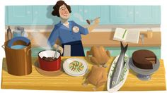 Google has a logo on almost all Google properties today for the legendary American chef and TV personality on many cooking shows Julia Child.  It would be here 100th birthday today and Google wanted to pay her tribute with a special Google Doodle...