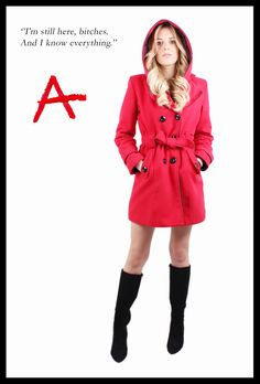 DIY halloween costumes Red Coat pretty little liars PLL | Holidays ...