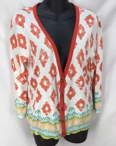 Anthropologie Moth Size M Ladies Fine Knit Cotton Sweater Cardigan  #Anthropologie #Cardigan #Casual