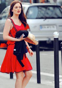 Gossip Girl Blair Waldorf. Hair, makeup, dress, perfection! Love this look for summer.