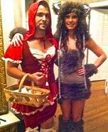 Little red ridding hood & the wolf costume