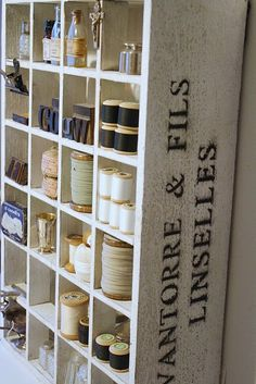 love this storage unit-could yyou stencil/distress and Expedit bookshelf for this look???