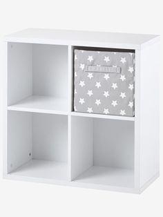 meuble de rangement 4 cases blancgris 1