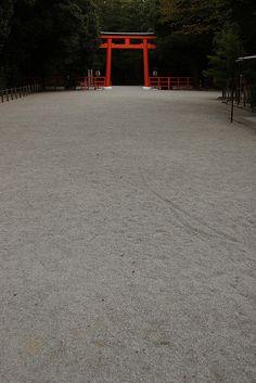 Torii gate at Shimogamo shrine, Kyoto, Japan