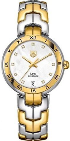 TAG Heuer Women's WAT2351.BB0957 Diamond-Accented 18k Gold and Stainless Steel Automatic Watch >>> Check this awesome product by going to the link at the image.
