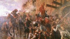 Les Vendéens ont enregistré la perte de milliers d'hommes lors de la Virée de Galerne. Ici, leur arrivée à Granville (Manche), d'après le peintre Maurice Orange.