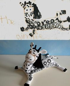 This website allows you to send in drawings that your children created and they make a stuffed animals out of it. What a fantastic idea!