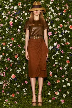 leather and long skirts gucci resort '13