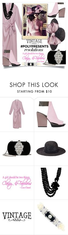 """#PolyPresents: New Year's Resolutions"" by foreverfashion61 ❤ liked on Polyvore featuring 3.1 Phillip Lim, Badgley Mischka, San Diego Hat Co., Anne Klein, contestentry and polyPresents"