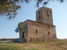 Nea Fokea Byzantine Tower, Halkidiki, Greece