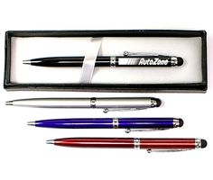 Twist action pen with stylus -- Ballpoint pen with soft touch stylus and gift box . Solid metal construction with metallic finish. Great for home, office, iPhone, iTouch, iPad and other smartphone. Is a great corporate gift.