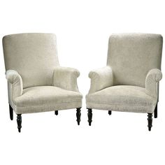 Pair of Antique French Napoleon III Style Chairs   From a unique collection of antique and modern armchairs at https://www.1stdibs.com/furniture/seating/armchairs/