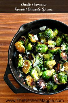 Roasted Garlic Parmesan Brussels Sprouts from @kitchenmagpie