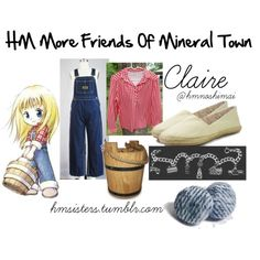 """""""HM More Friends Of Mineral Town Claire"""" by hmsisters/hmnoshimai on Polyvore Harvest Moon Game, Claire, Cloths, Minerals, Video Games, Seasons, Friends, Polyvore, Drop Cloths"""