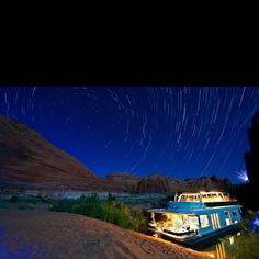 houseboat on Lake Powell, Utah. I spent a week on a huge house boat with 10 friends. Family Vacation Destinations, Best Vacations, Vacation Spots, Lake Mead, Star Trails, Lake Powell, Lake Life, The Great Outdoors, Places To See