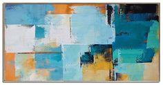 Palette Knife Painting Original Horizontal Wall by CelineZiangArt