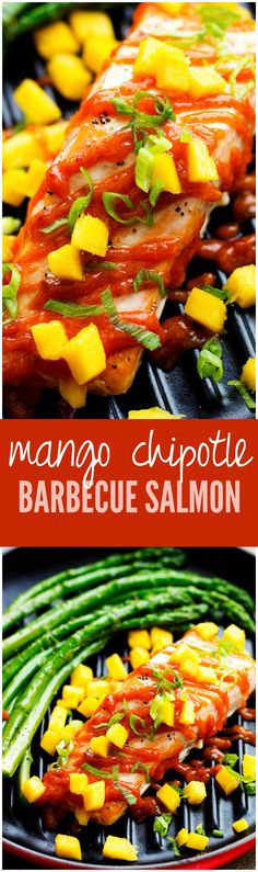 Mango Chipotle Barbecue Salmon... the perfect amount of sweet and spice and the flavor is amazing!