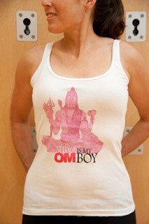"Medium ""Shiva is my OM Boy"" Funny Yoga Tank by Alternative Apparel on Etsy, $28.00"