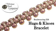 "This tutorial from The Potomac Bead Company shows you how to make our ""Hugs & Kisses"" bracelet, which uses some variations of right angle weave and diagonal ..."