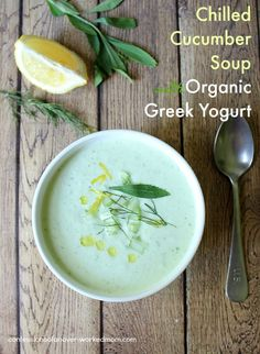 Chilled Cucumber Soup with Organic Greek Yogurt