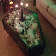@riverahenry15 I want a Coffin Coffee table! We don't have to put all the bones in it but we can put other cool looking things! Make me one, please?! :D