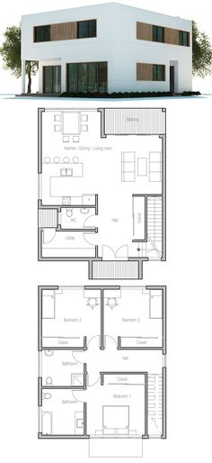 Tiny lot home plan