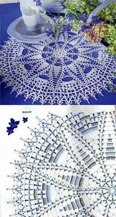 World crochet: Napkin 385 Filet Crochet, Crochet Doily Diagram, Crochet Doily Patterns, Crochet Mandala, Crochet Art, Crochet Round, Crochet Home, Thread Crochet, Crochet Motif
