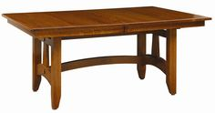 Amish Wolf Hollow Mission Trestle Dining Room Table