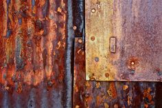 Abstract Fine Art Photography Industrial Rust Orange Red Rust, Pleated and Pressed 8x12 via Etsy