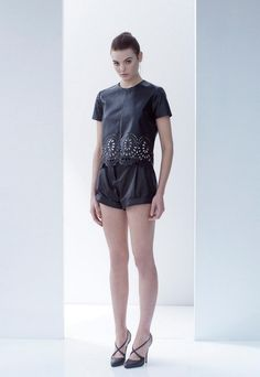 Lover Fall Winter 2013 such a cute leather short and shell combo